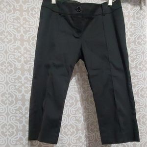 Guess By Marciano Black Capris Satin Lace Pockets
